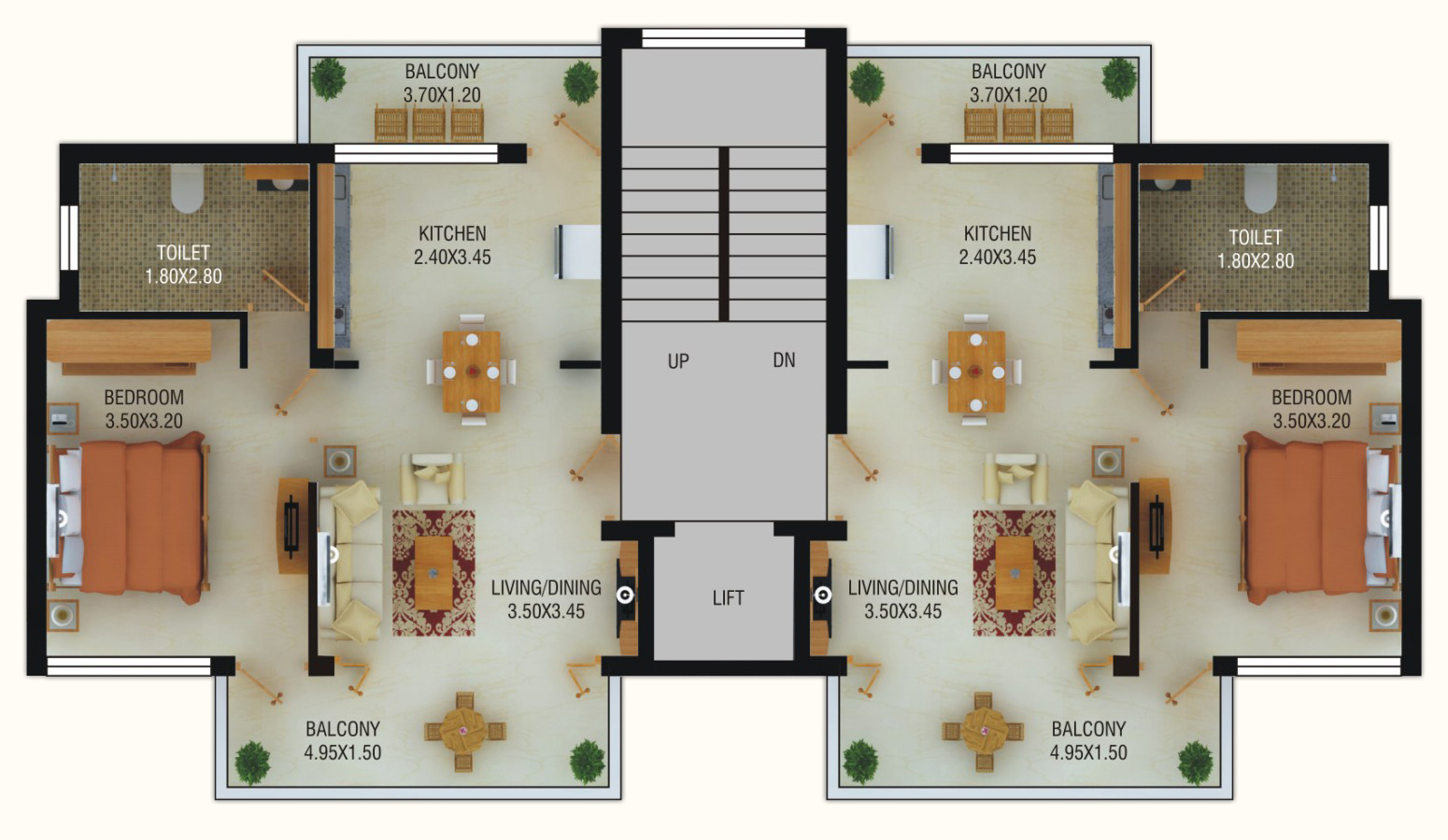 Typical Bedroom Size Beach Apartments Goa Floorplans World Class Apartments