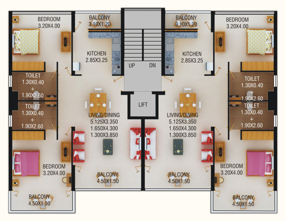 Beach apartments goa floorplans world class apartments for 50 x 80 apartment plans